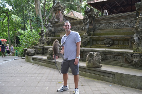Enjoying Monkey Forest in Bali