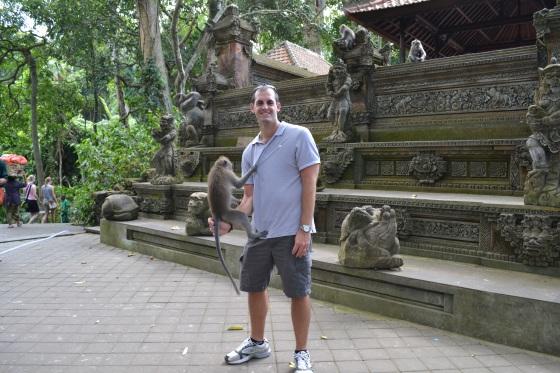 Enjoying Monkey Forest in Bali