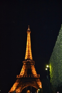 After dinner stroll by the Eiffel Tower