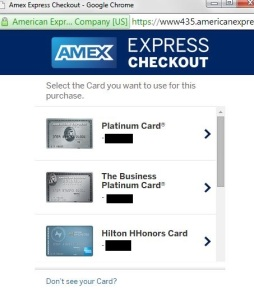 American Express Checkout lets you choose which Amex card