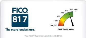 Andrea's FICO score
