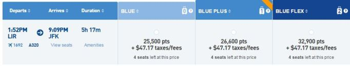 JetBlue option