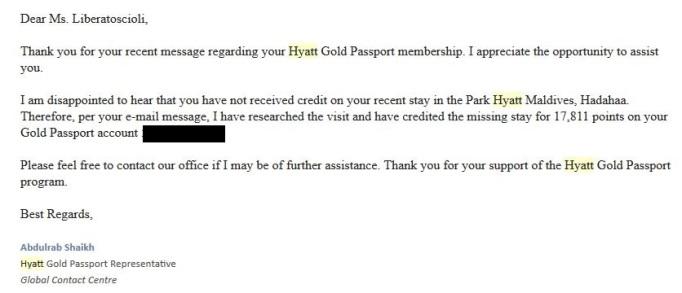 Hyatt Email