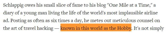 Snipet from the Rolling Stone Article