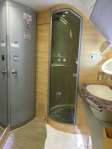Shower for First Class Passengers
