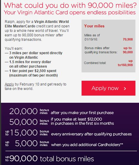 Virgin Atlantic 90k