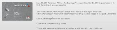 Citi AA Platinum Select Offer