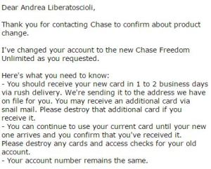 Freedom Unlimited Confirmation