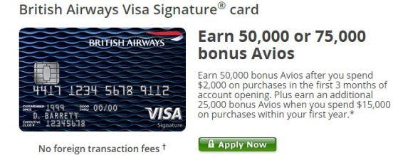 BA Avios Offer