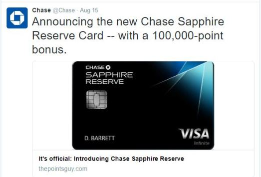 My Thoughts On The Chase Sapphire Reserve Amp Its 100k
